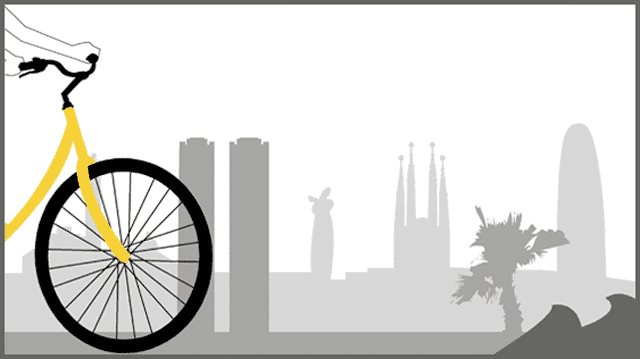 Un recorrido en bicicleta por la costa de Barcelona - lugares