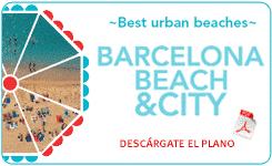 barcelona beach and city