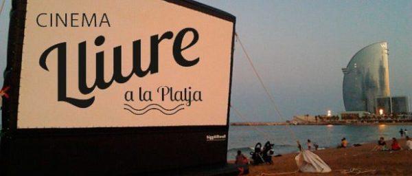 Cine y playa - eventos-en-barcelona