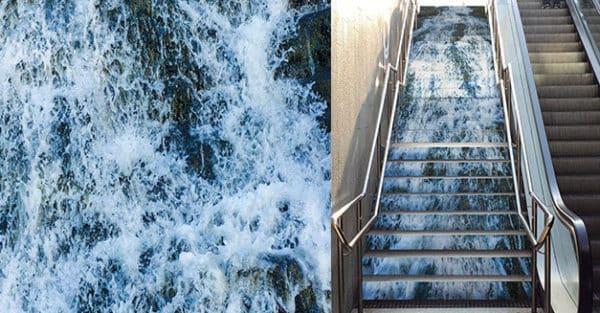 Arte en las escaleras del metro de Barcelona - novedades