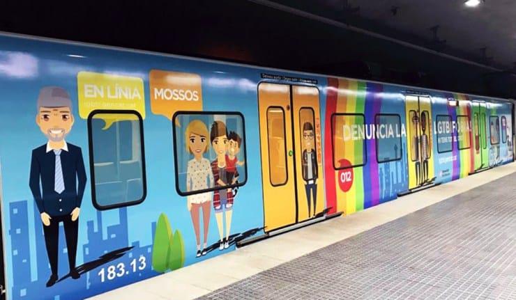 Combatiendo la LGTBIfobia desde los trenes de Barcelona - novedades