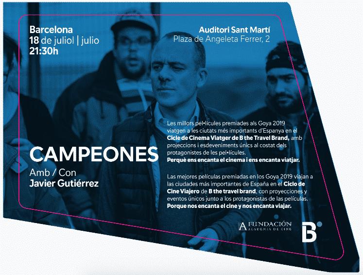 El ganador del Goya Javier Gutiérrez presentará en Barcelona la película Campeones - eventos-en-barcelona