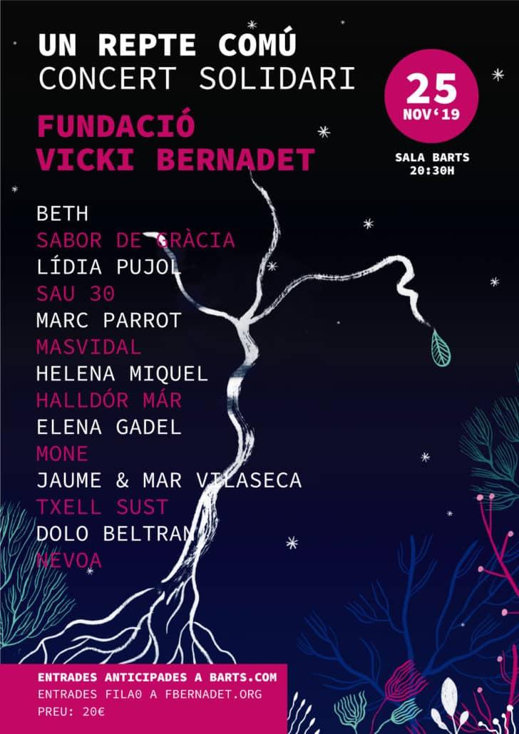 25 de Noviembre Sala Bart : CONCERT SOLIDARI FUNDACIÓ VICKI BERNADET - eventos-en-barcelona